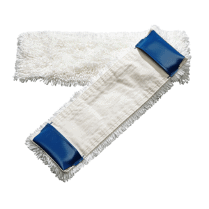 Quality pocket mop for flat press washing system
