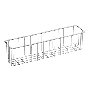 Basket for cleaning trolleys