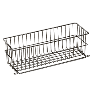 Basket for cleaning trolley