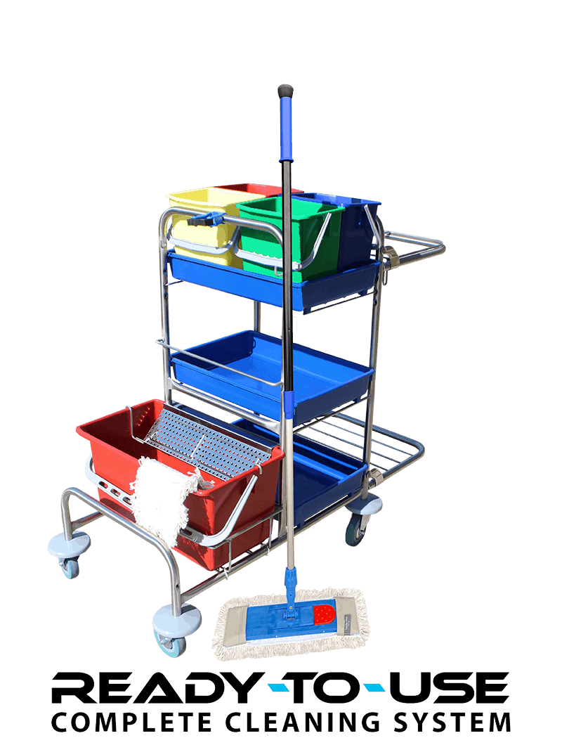 Cleaning trolley for pocket mops
