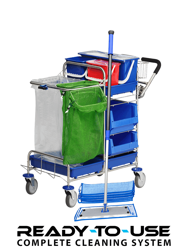 Cleaning trolley - ready to use
